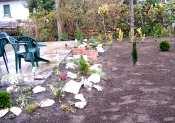 Csörög, családi ház átlagos kertmérettel, frissen füvesítve