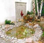 Vác, családi ház belső udvara